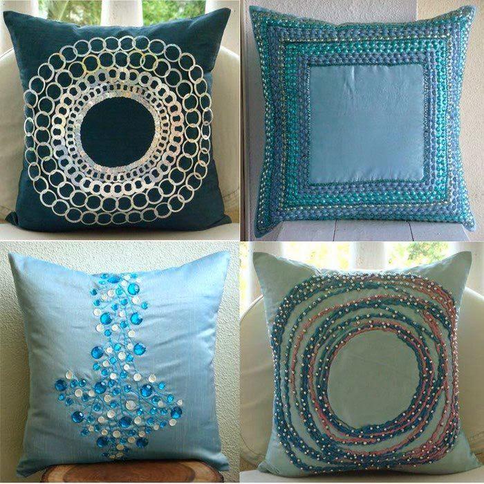 Идеи декоративных подушек своими руками 25