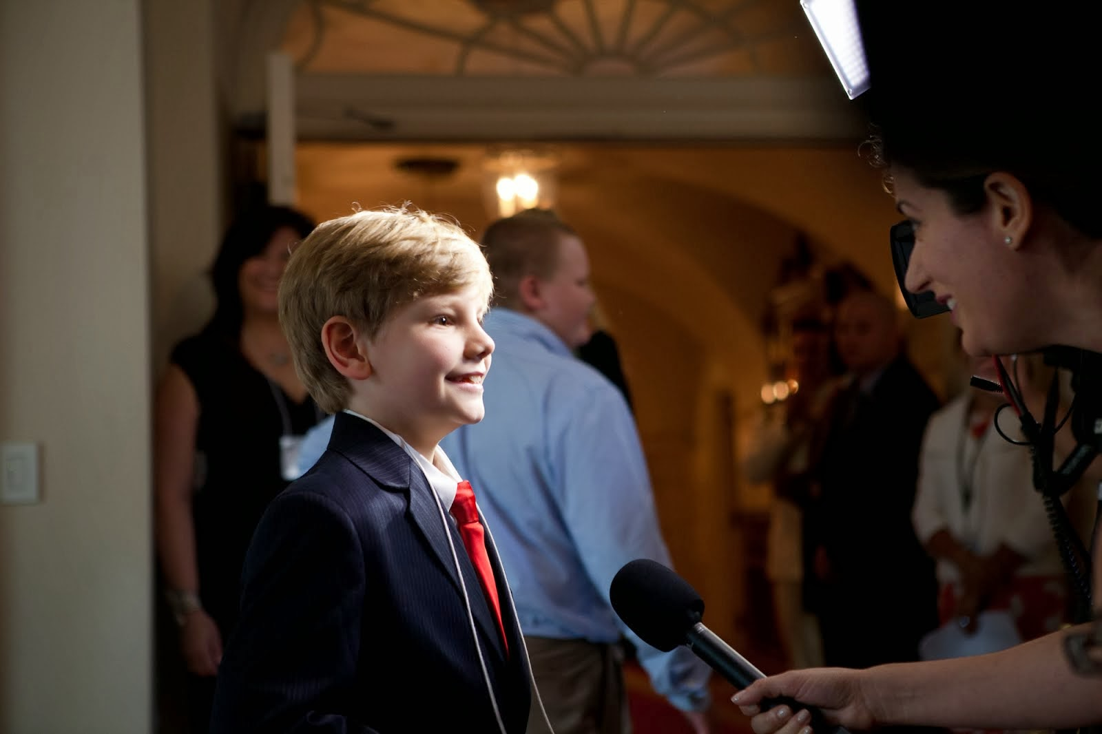 Logan with White House Press Corps