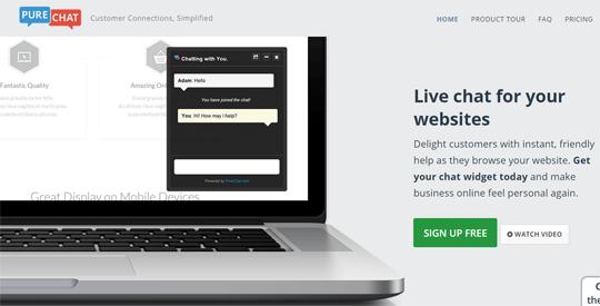 purechat live chat widget