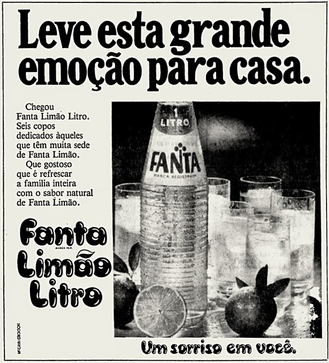 Fanta. os anos 70; propaganda na década de 70; Brazil in the 70s, história anos 70; Oswaldo Hernandez;