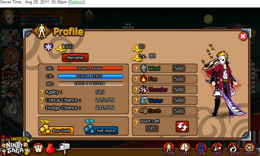 Hack ninja saga God Mode usando [CE] 6.0