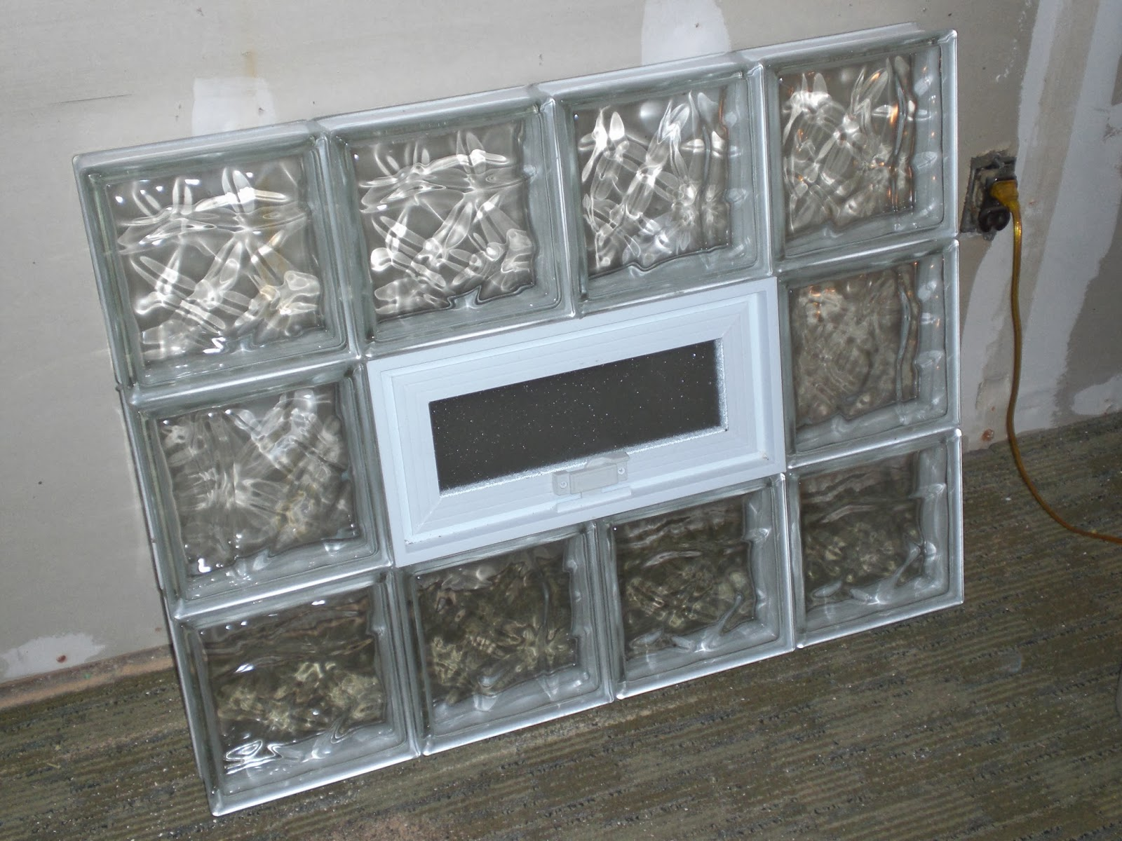 Building blocks danks and honey for Pre assembled glass block windows