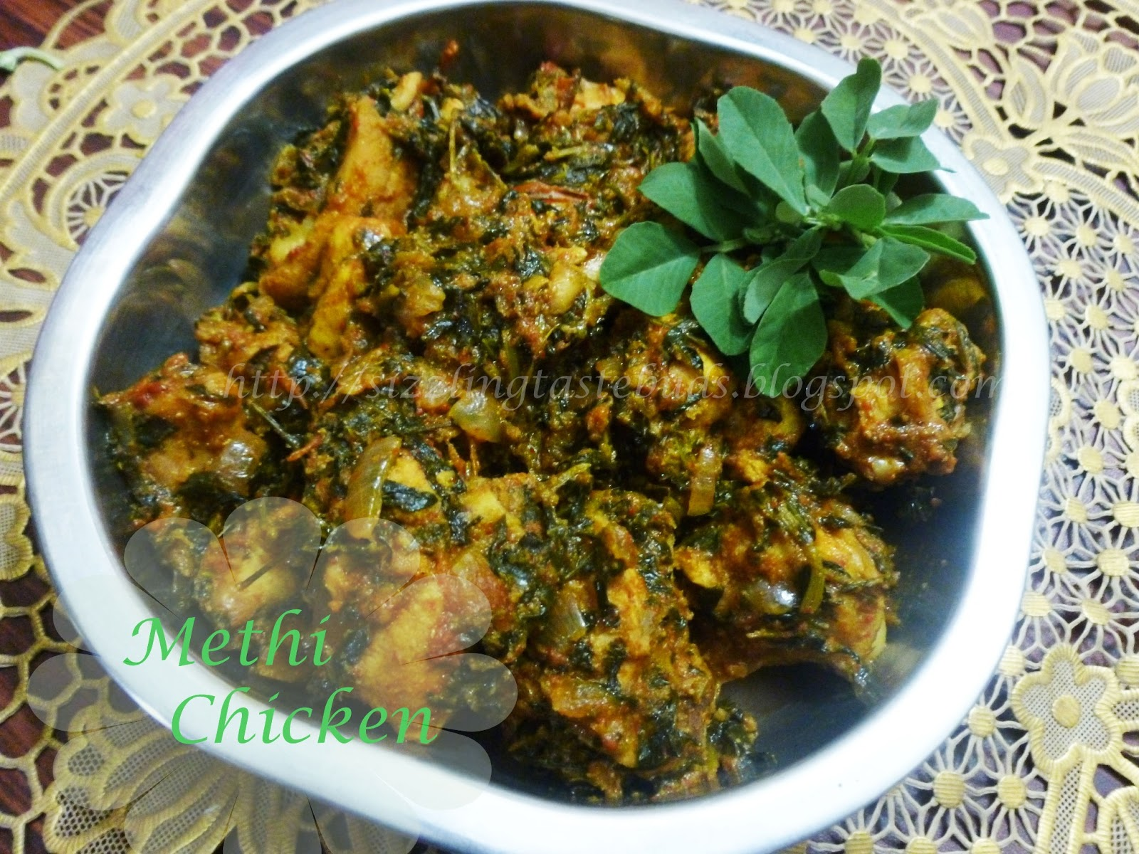 METHI CHICKEN / MURGH METHI - Chicken Curry with Fenugreek Leaves
