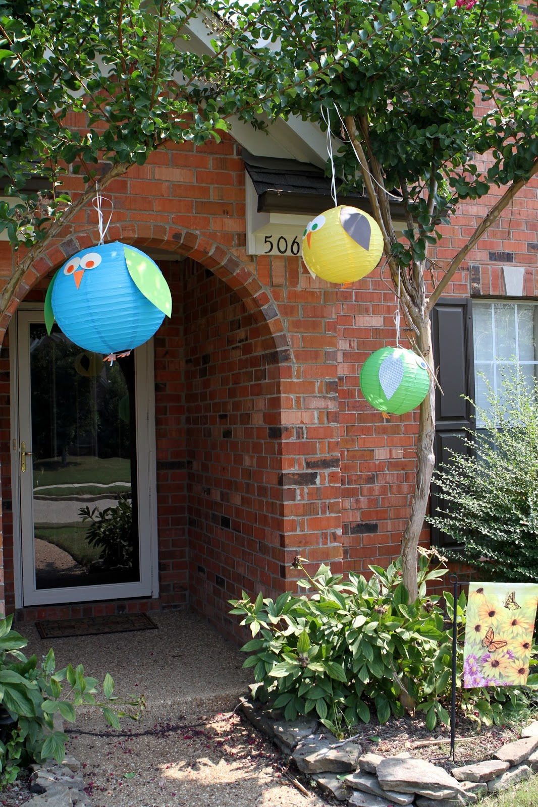 Allison Also Decorated Lanterns To Hang Around Both Inside And Outside After The Party We Hung These In Claytons Playroom