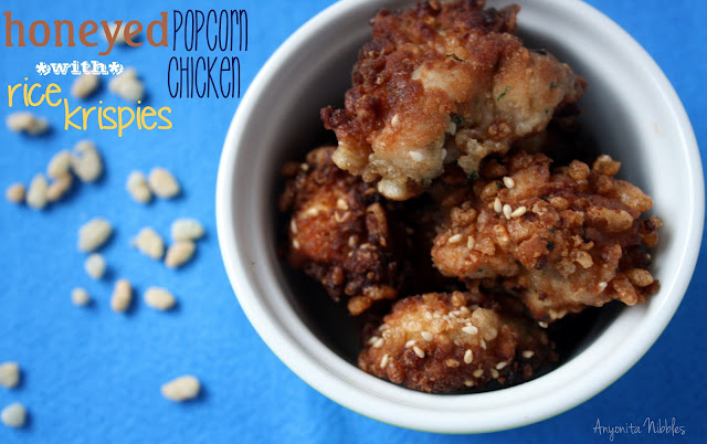 Kid-Friendly Honeyed Popcorn Chicken with Rice Krispies | Anyonita Nibbles