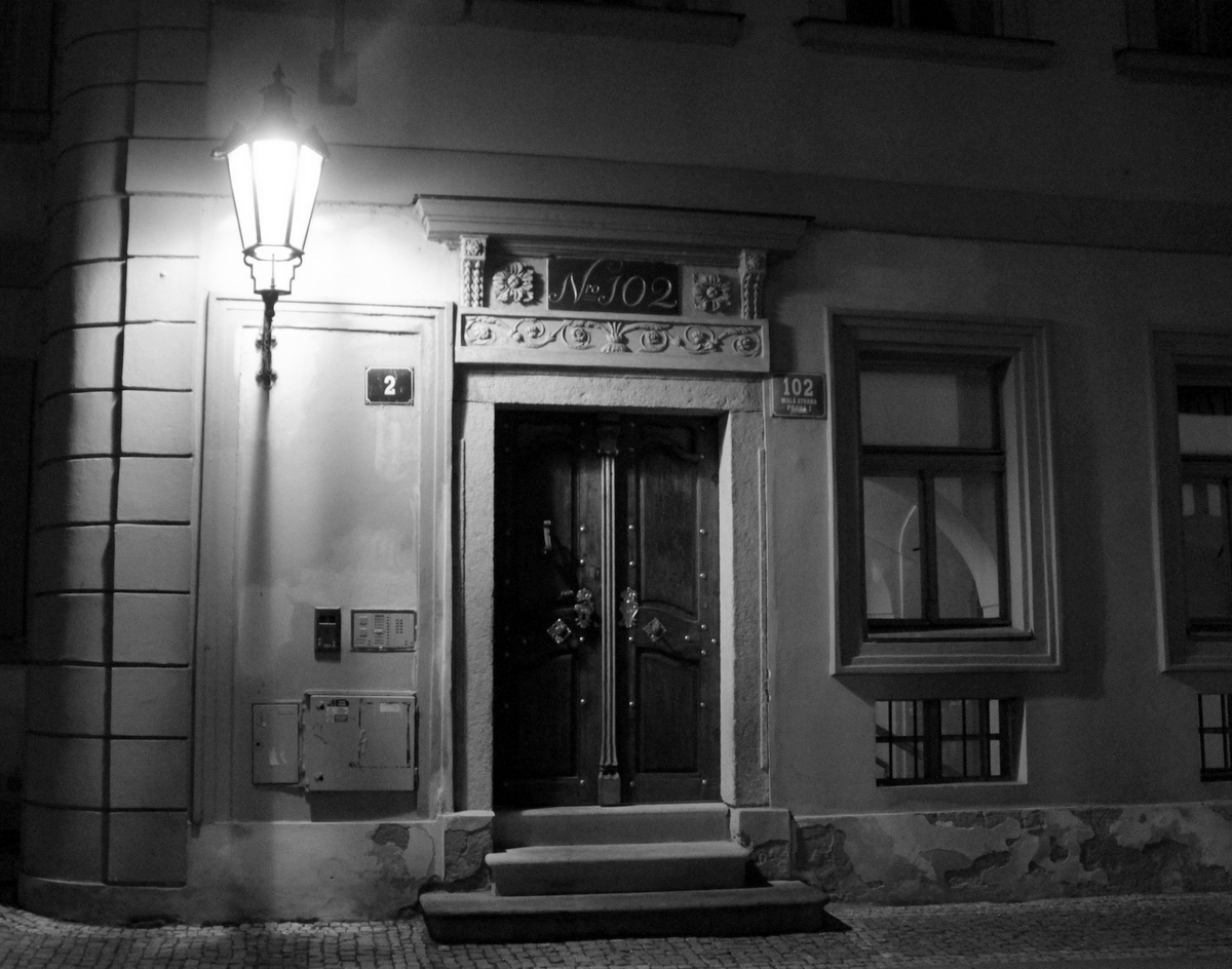 no. 102 in Mala Strana, Czech Republic - black and white