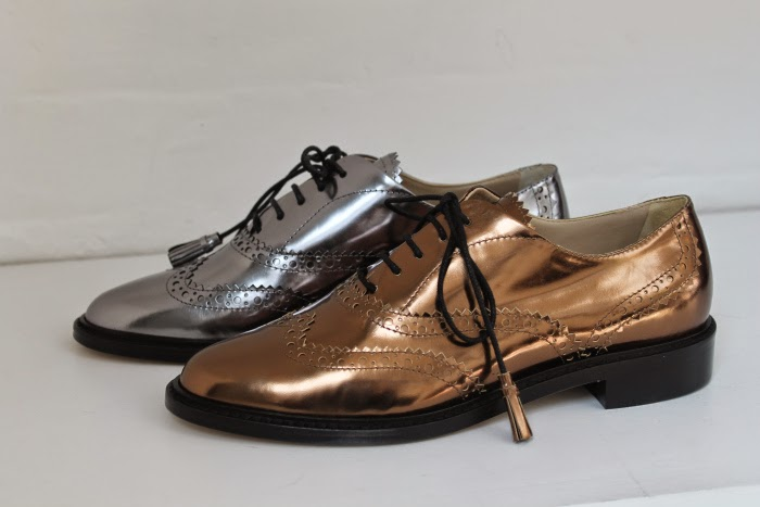 brogues, silver brogues, metallic brogues, hobbs brogues, hobbs shoes, hobbs shoe press event