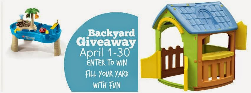 playhouse, water table, giveaway, spring time, backyard fun