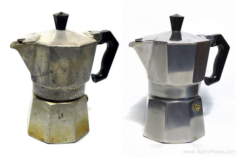 Natural Polish For Aluminum & Restore a Moka Pot RetroFixes