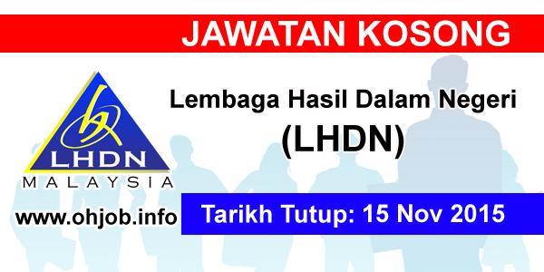 Jawatan Kerja Kosong Lembaga Hasil Dalam Negeri (LHDN) logo www.ohjob.info november 2015