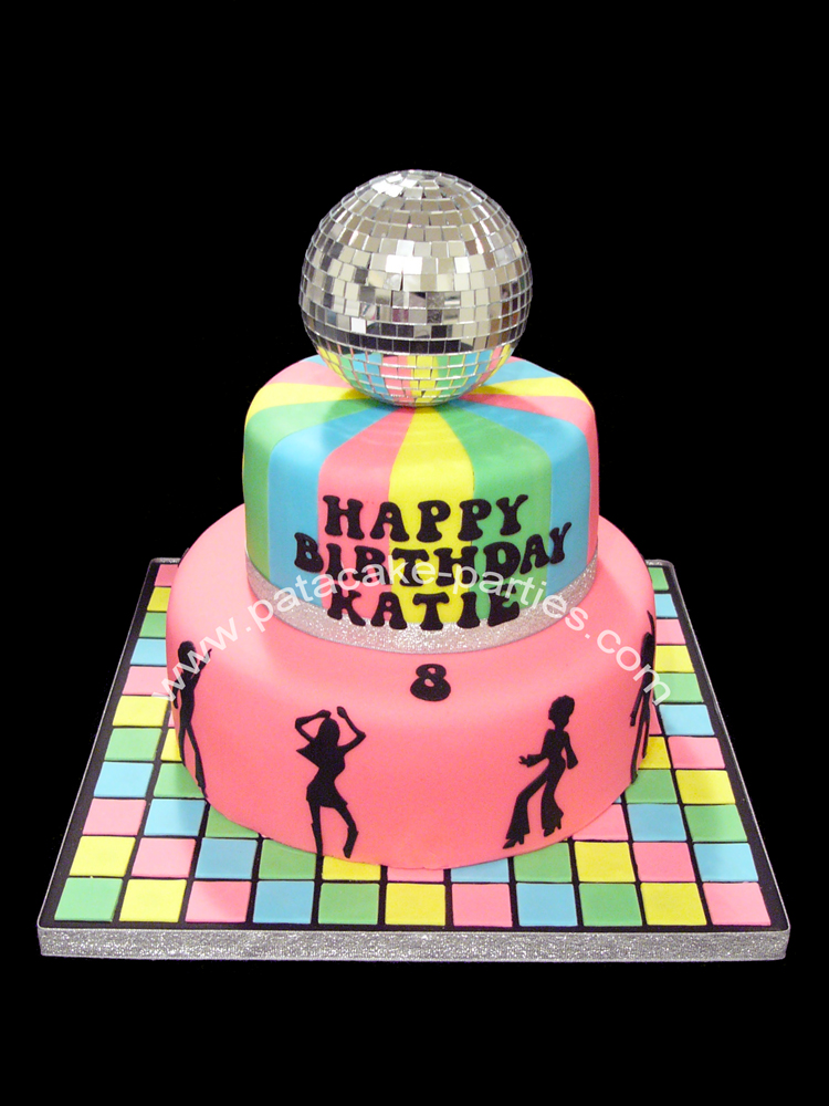 Dance Party Cake Images : Pat-a-Cake Parties: Disco Cake