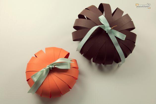 Las manualidades que necesitas sencilla calabaza de papel - Calabazas para halloween manualidades ...