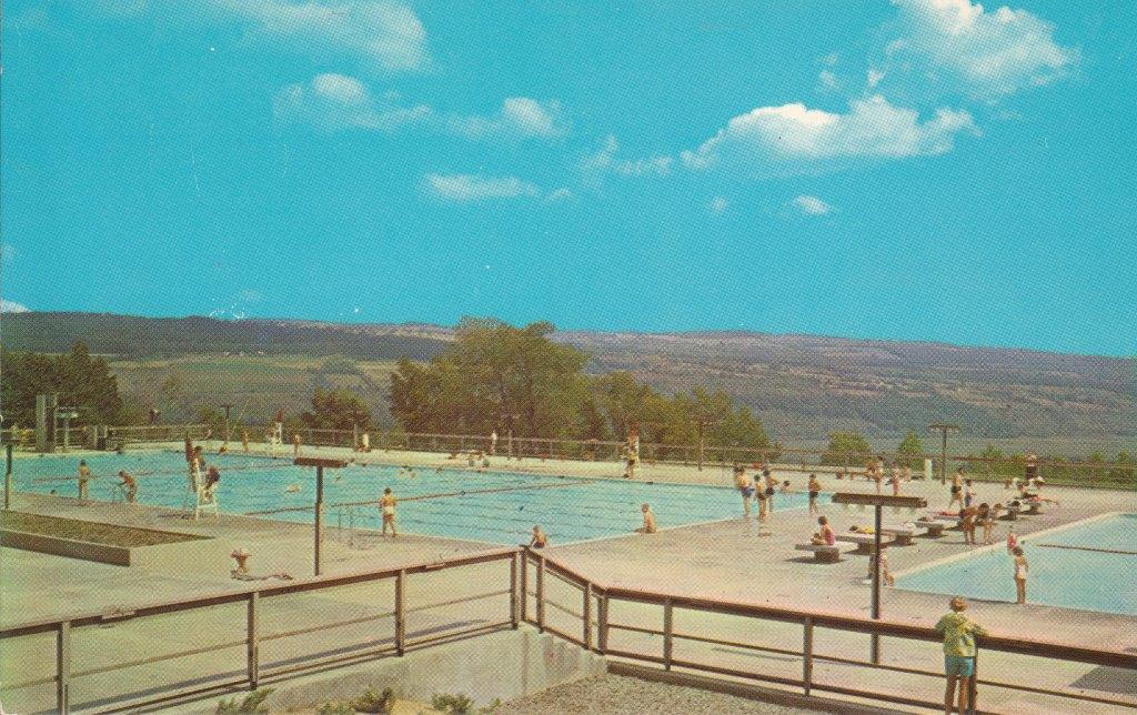 Swimming Pool Postcard Watkins Glen State Park New York