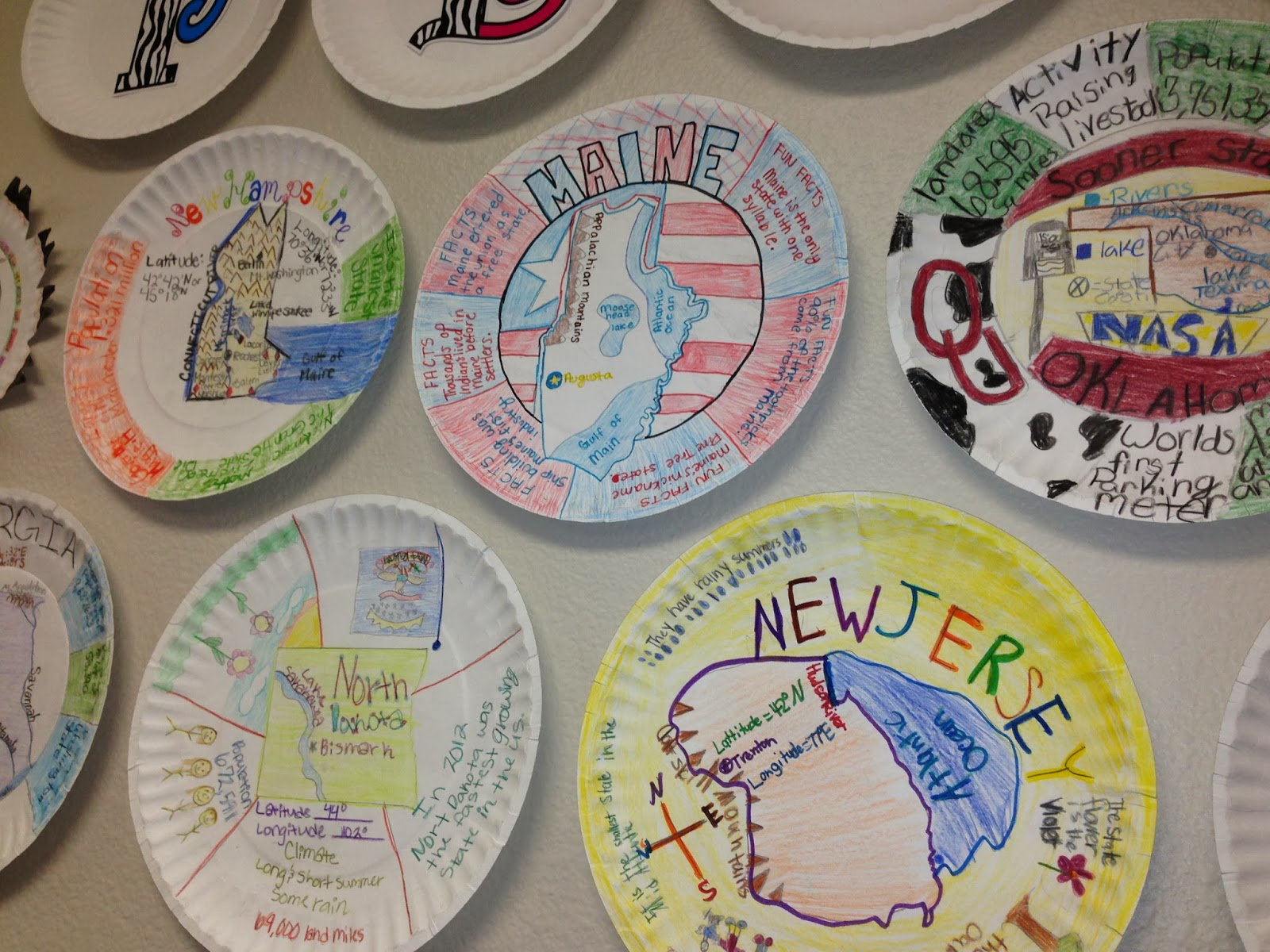 Sensational social studies great state plates for Craft schools in usa