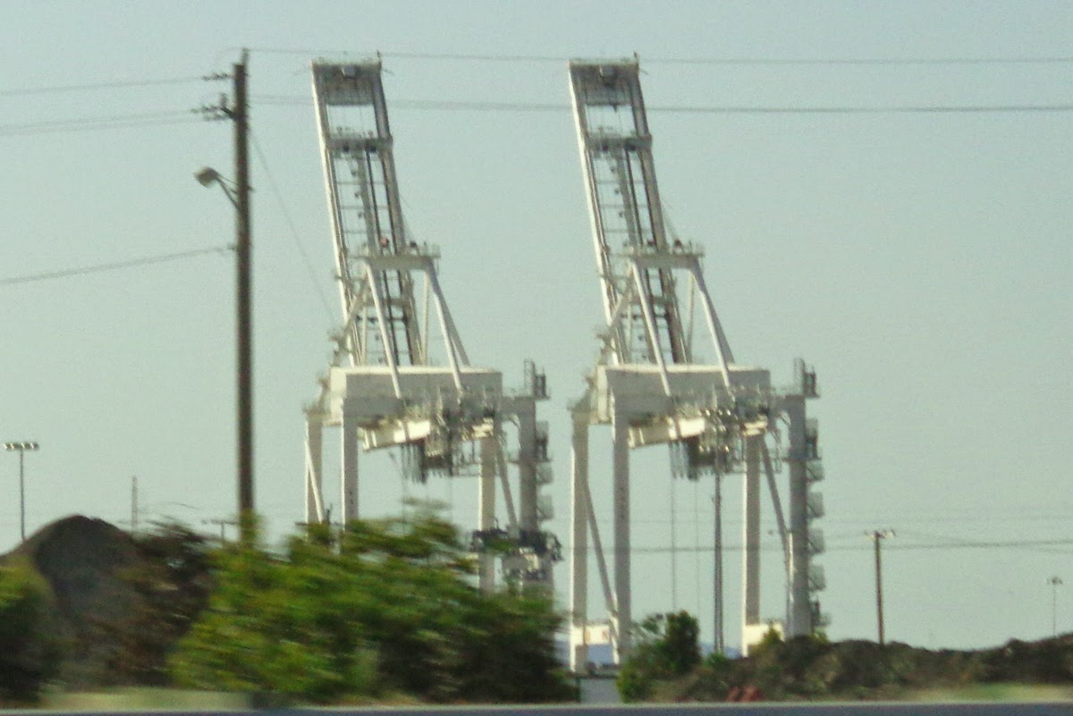 AtAts. Or cranes for moving shipping containers at the Port of Oakland.