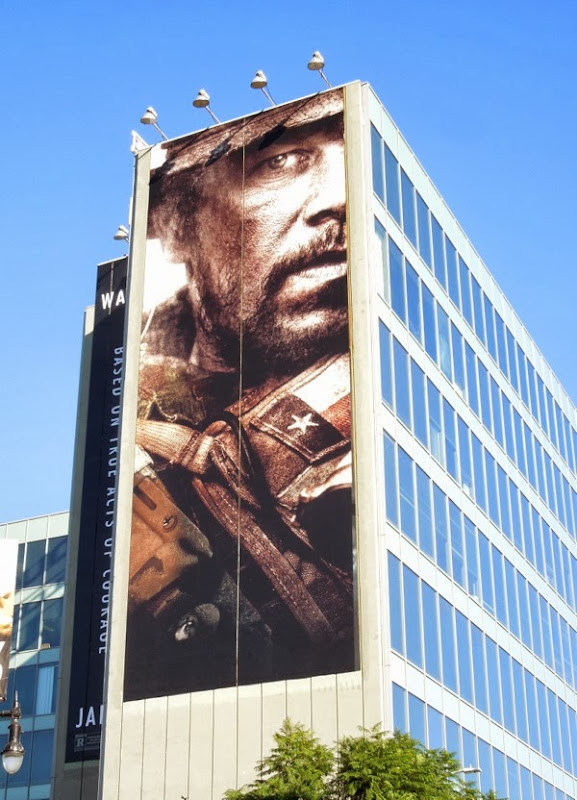 Giant Mark Wahlberg Lone Survivor movie billboard