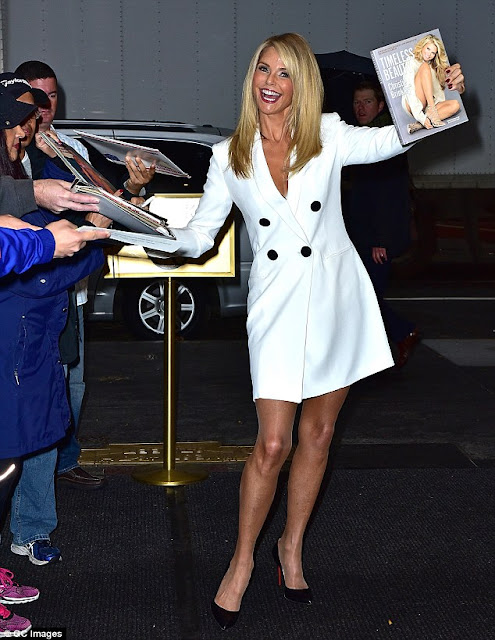 Supermodel @ Christie Brinkley - heading to the Today Show