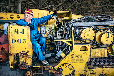 Machine From The Past - Art and Photo by Ben Heine with Man Carreau Rodolphe Mine - 2013 Tour de France Photo