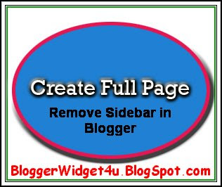 Image Poster For Hide SideBar In Blogger