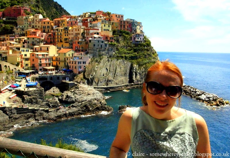 Enjoying the warm Spring weather - Manarola - Cinque Terre, Italy
