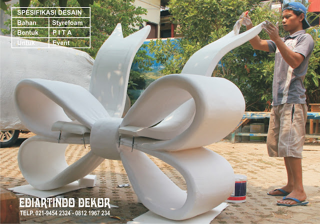 desain pita styrofoam