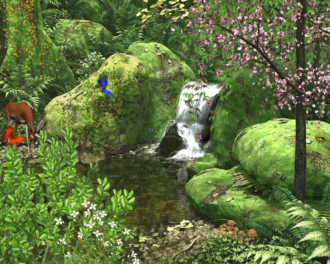 Animated Nature Wallpaper Spring Stream Animated Wallpaper 1