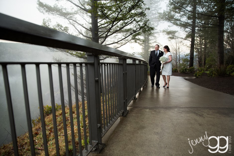 Linda and David return to their room after their wedding ceremony - Posted by Patricia Stimac, Seattle Wedding Officiant