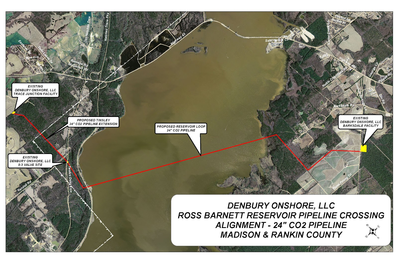 Ross barnett reservoir pipeline to cross rez for Ross barnett reservoir fishing report