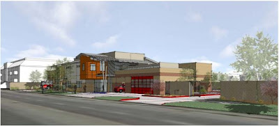 Artist's Concept of New LAFD Station 7 in Panorama City