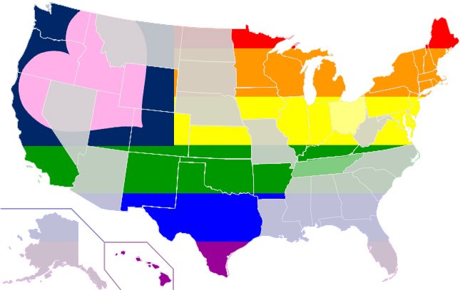 gay marriage map july 2014
