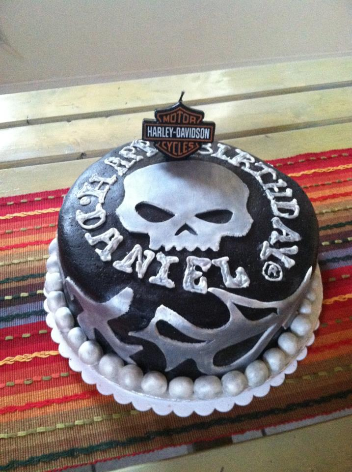 Cakes For You Dannys Harley Davidson Birthday Cake