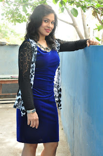 Jyothi Pictures in Blue Short Dress at Mental Police Movie Location ~ Celebs Next