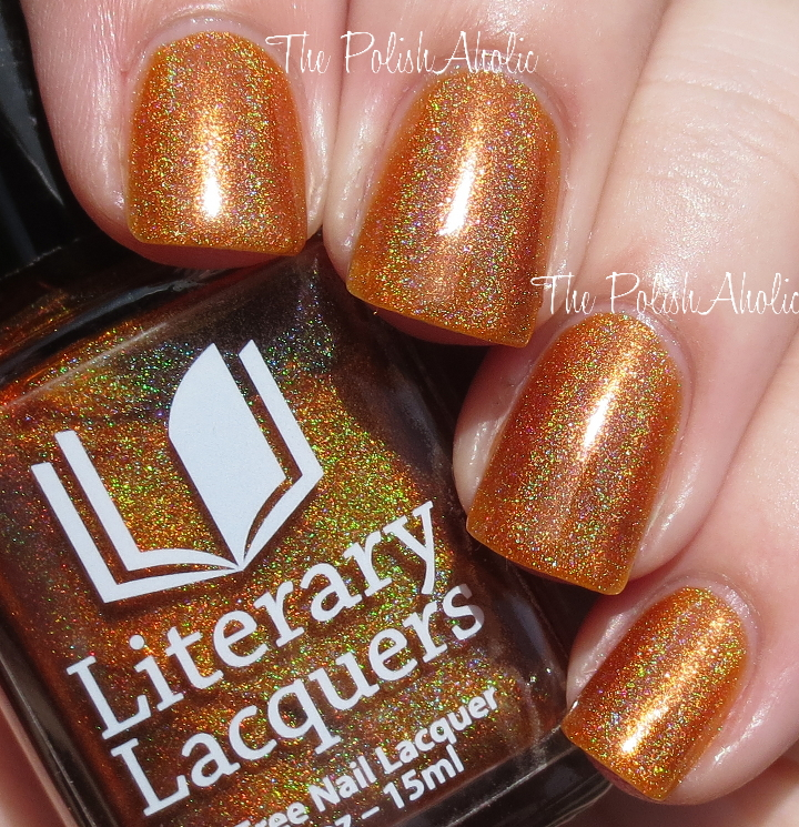 The PolishAholic: Literary Lacquer More Like Fire Than Light Swatch ...