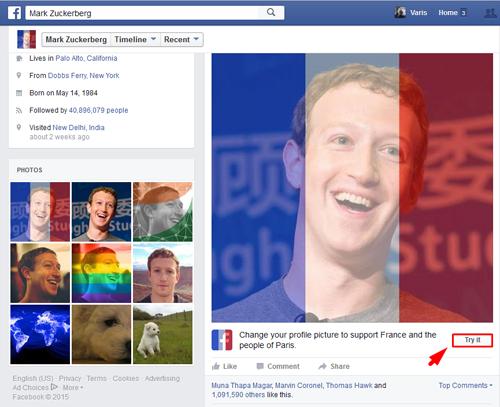 Cara Membuat Foto Profil Facebook Dengan Background Bendera Perancis