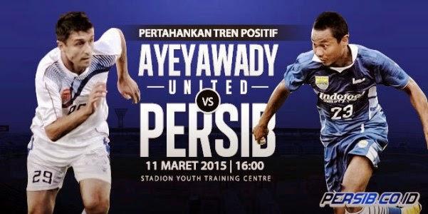 RCTI Siarkan Langsung Ayeyawady vs Persib Bandung
