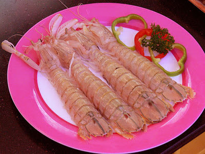 A delicious sea food made by Mantis shrimp
