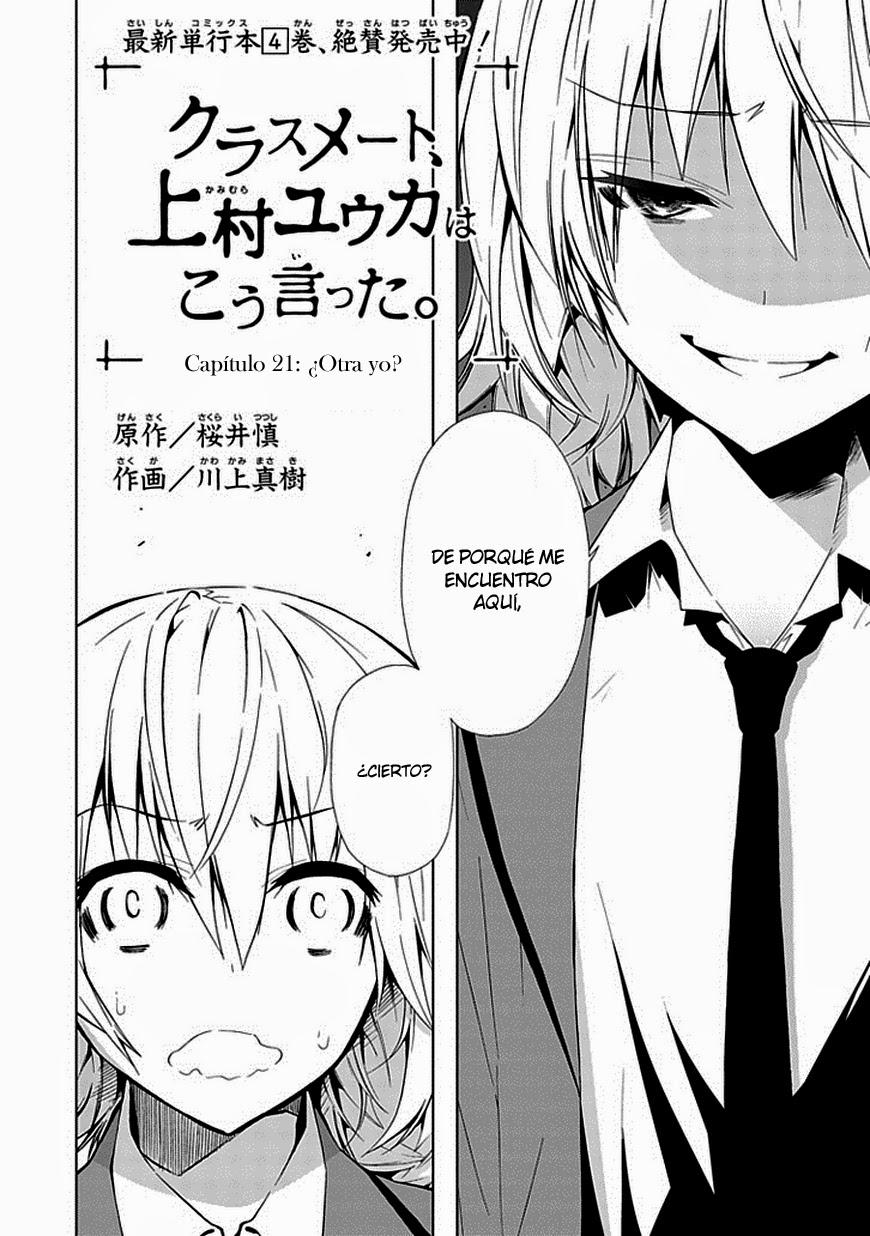 Classmate Kamimura Yuuka wa Kou Itta - Capitulo 21