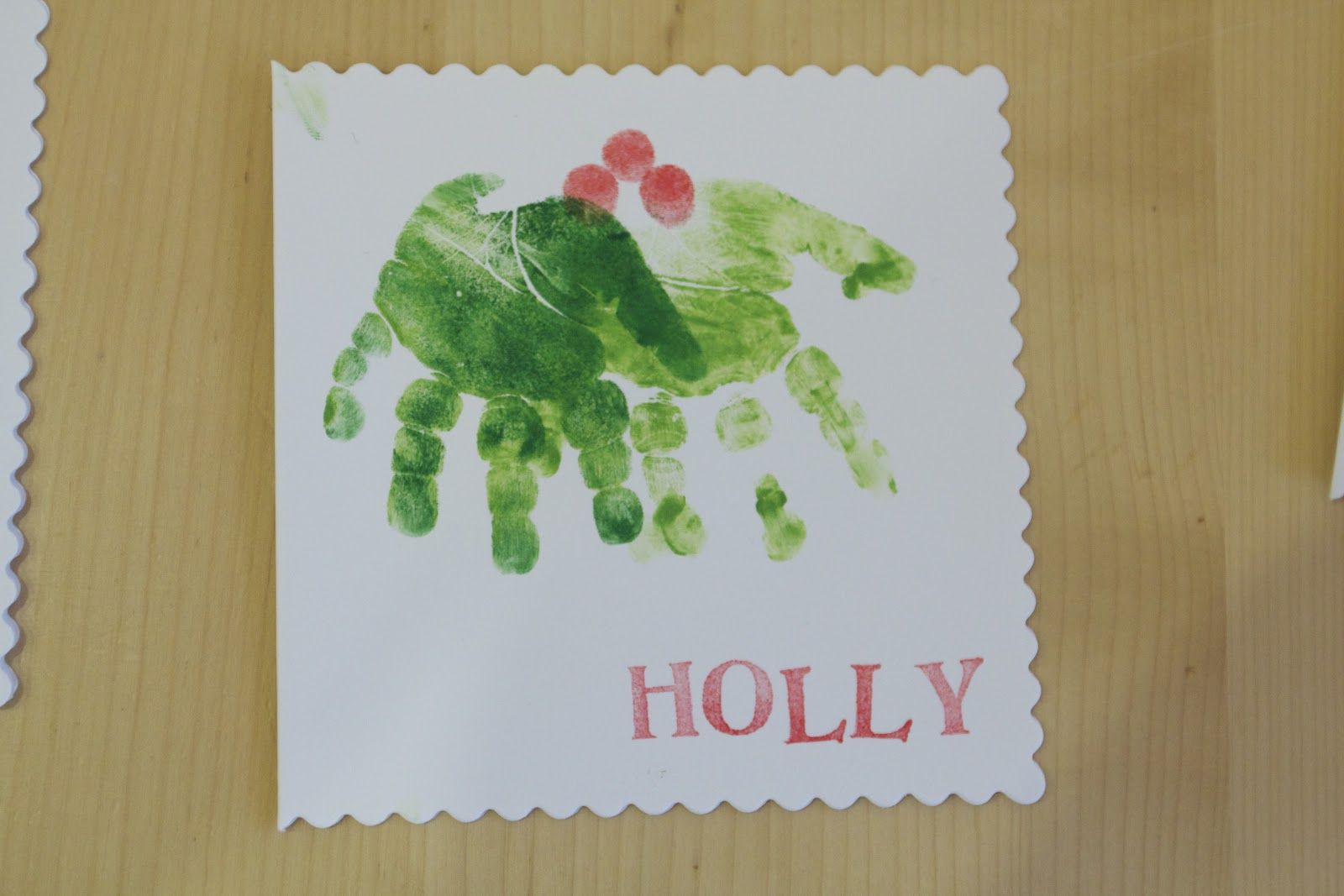 Learning Lessons in Mummyography: Homemade Christmas Card Handprint ...