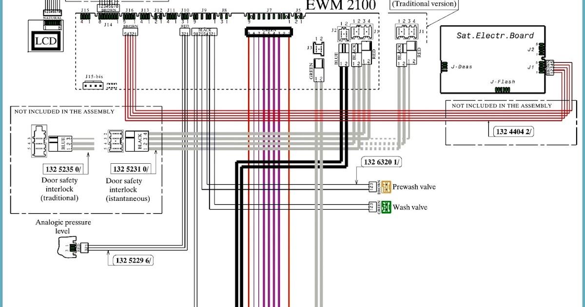 electro help ewm2100 ewm2500 env06 electrolux washing machine toploader schematic