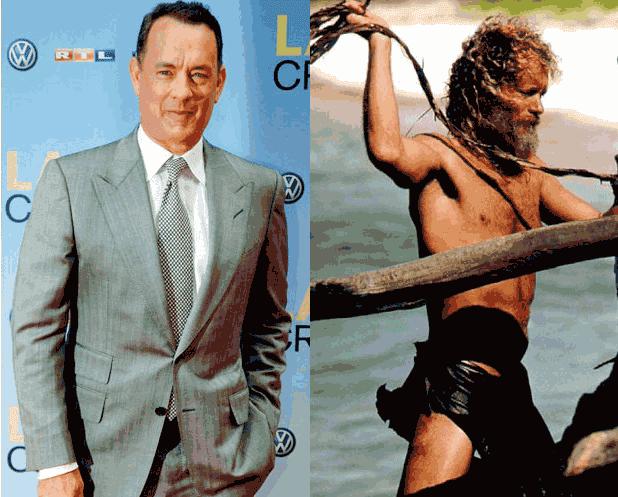 Tom Hanks ketika beratnya turun 25 kg