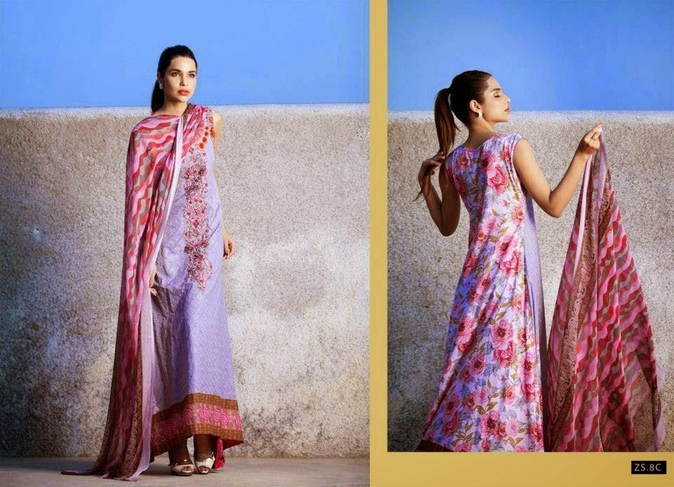 Sania Zara Designer Embroidered Collection 2014