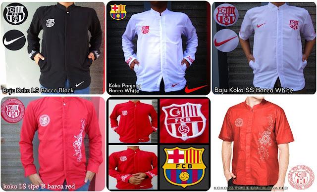 Baju Muslim Koko Bola Barcelona