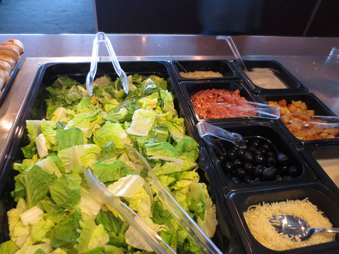 Salad bar, Pacific Buffet, BC Ferries