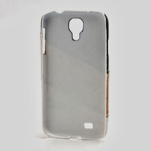Three-color Leather Coated Hard Case for Samsung Galaxy S4 IV i9500 i9502 i9505 - Black / Brown / White