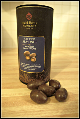 salted almonds, chocolate