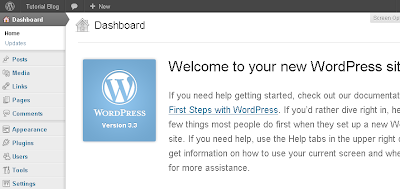 Gambar 12 Dashboard CMS Wordpress