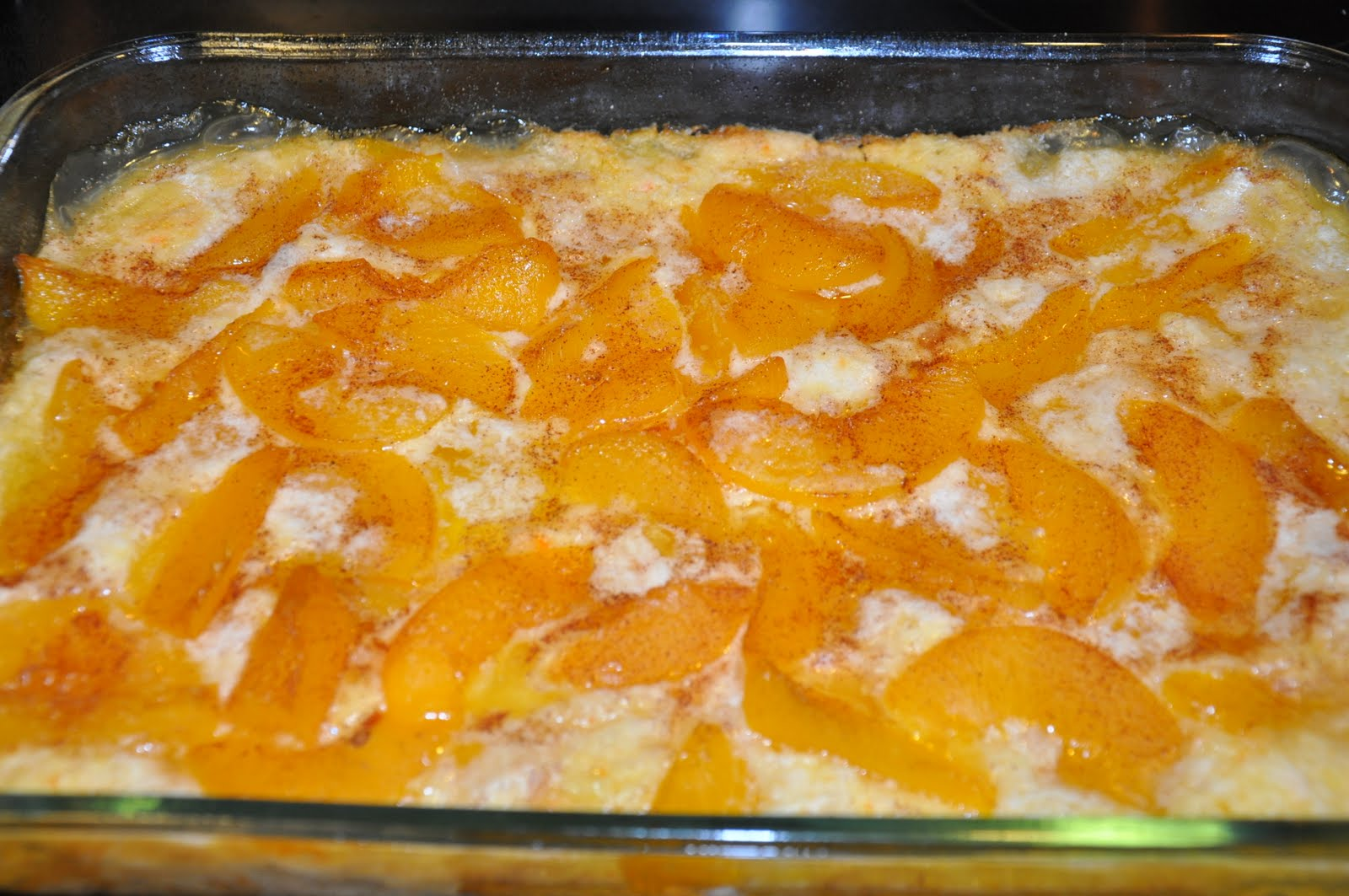 how to tell if peach cobbler is done
