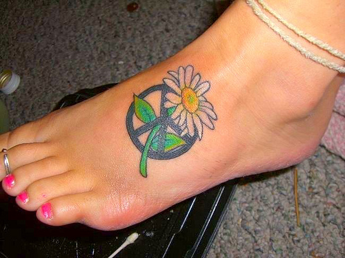 sign tattoos with melting rainbow colors a raised 3 d effect or simple ...