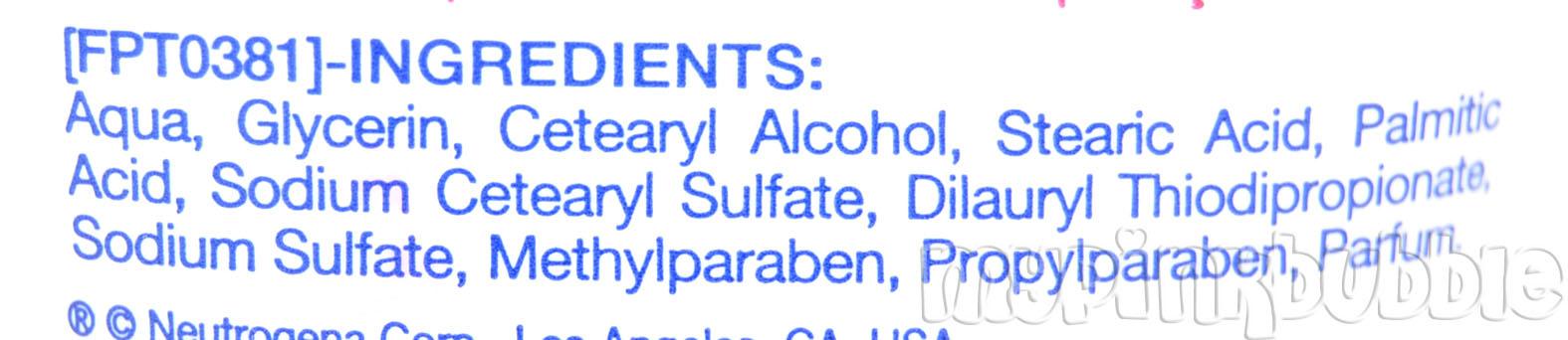 crema manos Neutrogena ingredientes