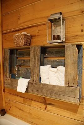 Muebles de palets toallero para vuestro ba o de dise o for Toalleros rusticos